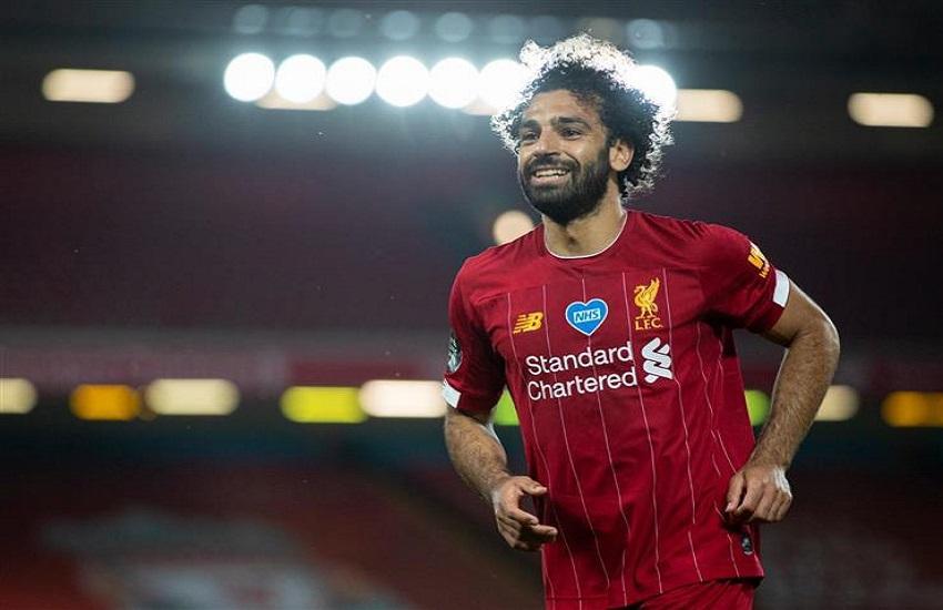 محمد صلاح بقميص نادي ليفربول الجديد